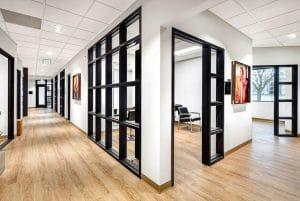 interior of hallway and salon suite rentals in Orem Indie Studio Suites
