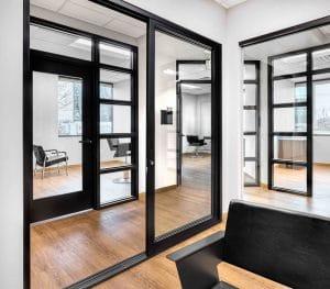 hallway and interior of studio suite rentals in Orem Indie Studio Suites