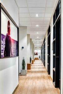 hallway view of Orem studio salon suites