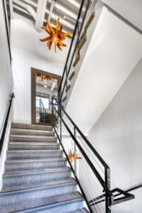 staircase view of Bountiful studio salon suites