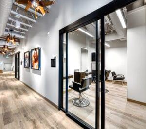 hallway view of Bountiful studio salons