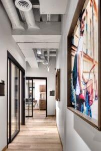 hallway view of Bountiful studio suite rentals