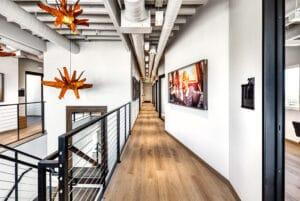 hallway view of Indie Studio Suites in Bountiful