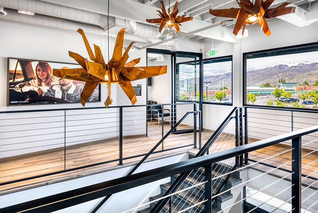 staircase view of Bountiful studio salon rentals
